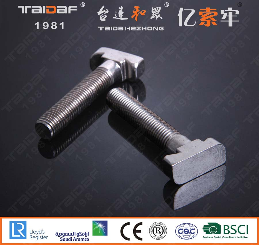 Stainless steel T-bolt