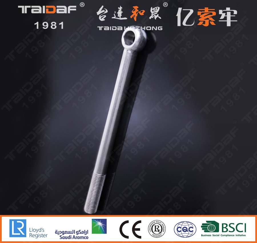 Stainless steel lifting ring knuckle bolts